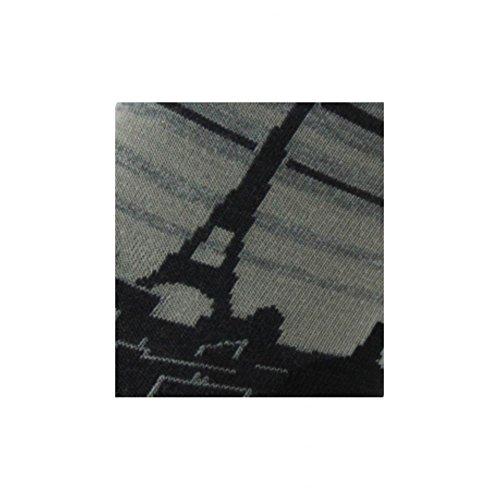Tour Calze della e antracite Eiffel in Achile lana cotone B0wq07d
