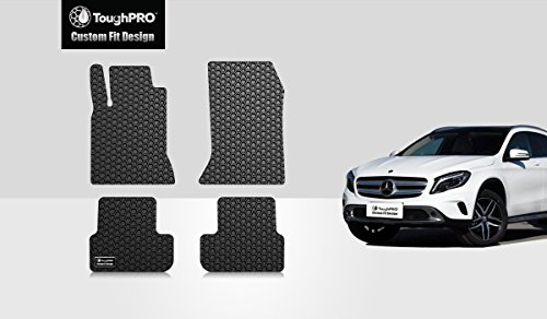 - ToughPRO Floor Mats Set (Front Row + 2nd Row) Compatible with Mercedes-Benz GLA180 GLA200 GLA250 GLA45 AMG - (Made in USA) - Black Rubber - 2014, 2015, 2016, 2017, 2018, 2019