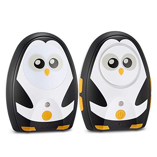 Audio Baby Monitor with up to 1000 Feet of Range Digital Transmission Belt Clip Night Light & Two Way Talk Intercom Day Night Modes Warning Alarm System Focus