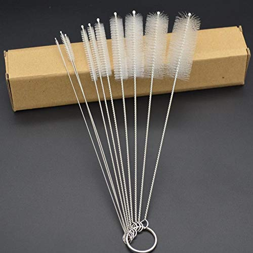 Tube Bottle Brushes Set for Drinking Straws, computers, etc. (10 pack, 8.27 inch)