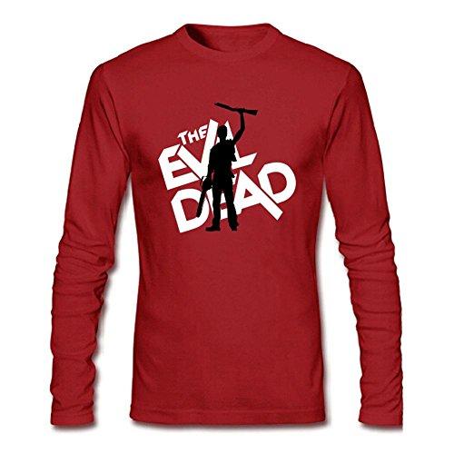 SDUAE Men's The Evil Dead Logo Long Sleeve T Shirt XXL Red -