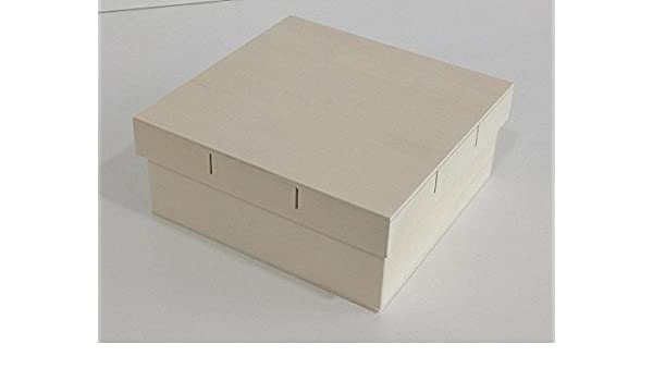 Caja madera grande. Tapa para cinta. Para pintar. Manualidades y decoración: Amazon.es: Hogar