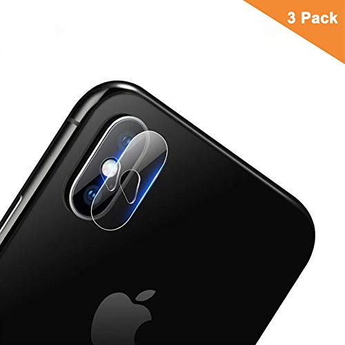 Aolander Compatible iPhone Xs Max 6.5 2018 Camera Lens Tempered Glass, [HD Clear] [2.5D Rounded Eege] Scratch-Resistant Camera Lens Protector Film[3 Pack]