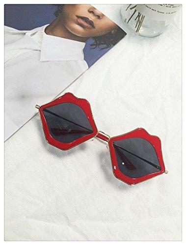 Luz Gules Xue Gafas De De De Forma Sol Ultravioleta La Que con Labios De Evitar Y para Gafas gules Rojos zhenghao CUCqgZ