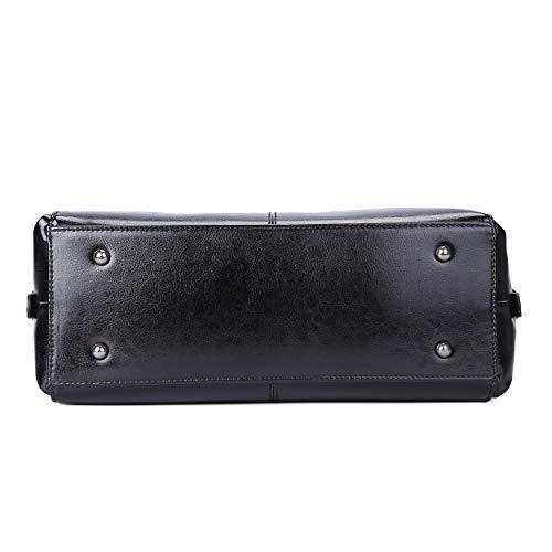 Genuine Leather Handbag for Women Top Handle Satchel Bag Ladies Purses Work Bags 3