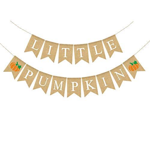 - Rainlemon Jute Burlap Little Pumpkin Banner Fall Autumn Baby Shower Diaper Party Birthday Party Garland Decoration