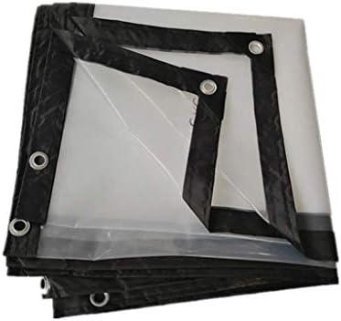 透明防水シート クリア トランスペアレント 防水シート - ヘビーデューティ - プレミアム品質 - 120 GSM、 トランスペアレント ターポリン パティオ用 アウトドア 0.3MM ターポリン 庭屋根 保護