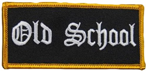 [Single Count] Custom and Unique (2' x 4' Inches) Uniform Identification Old School Name Tag Badge Iron On Embroidered Applique Patch {Black & White Colors}