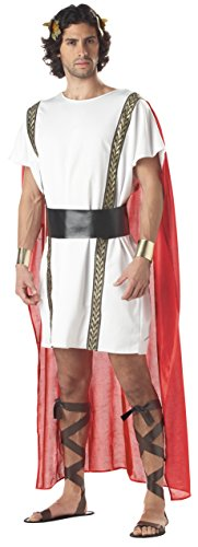California Costumes Men's Mark Antony, White/red, Small/Medium