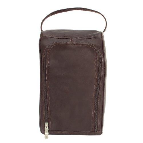 piel-leather-u-zip-shoe-bag-chocolate-one-size