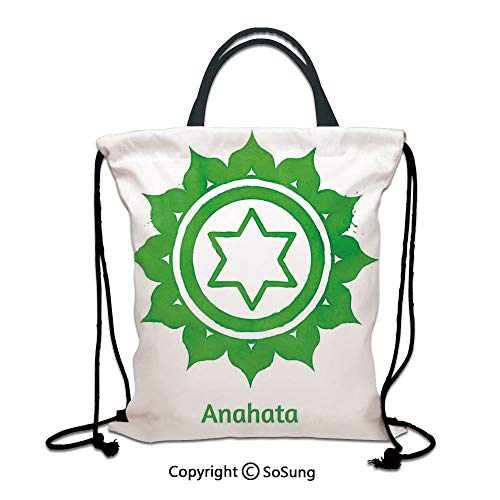 Chakra Decor 3D Print Drawstring Bag String Backpack,Anahata for sale  Delivered anywhere in Canada