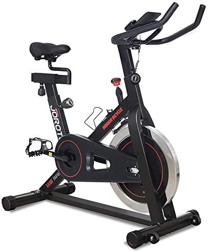 JOROTO Magnetic Exercise Bike Stationary - Belt Drive Indoor Cycling Bikes Trainer workout Cycle for Home Suitable Inseam 29 to 39 inches