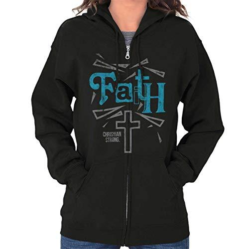 Cross Zip Hoodie - Cross Religious Jesus Christ Christian Hope Zip Hoodie Black