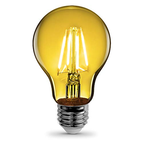 Feit Electric - Yellow Filament LED 25W Equivalent Dimmable Clear Glass Light Bulb, A19 (A19/TY/LED)