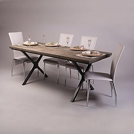 Tavolo Da Pranzo In Legno Massello Di Pino In Stile Rustico