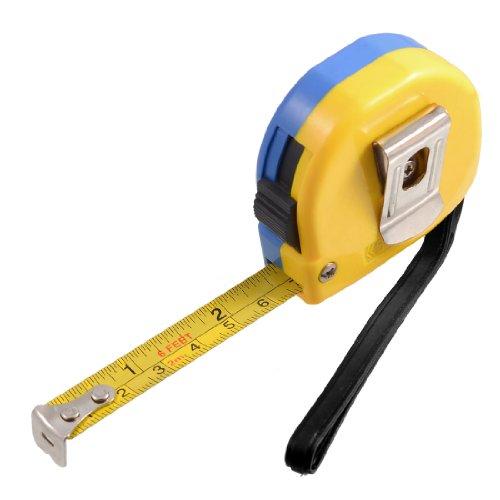 2M 6Ft Retractable Metric English Ruler Tape Carpenter Measuring (4' Metric Ruler)