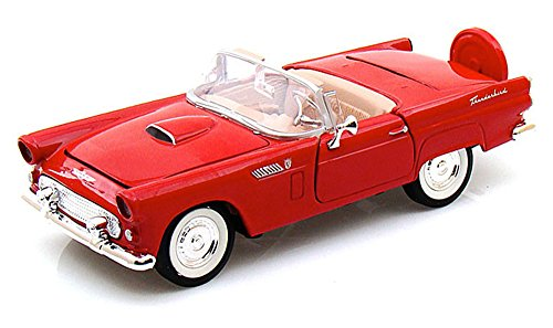 Ford Thunderbird Model - 1956 Ford Thunderbird , Red - Motormax - 1/24 scale Diecast Model Toy Car