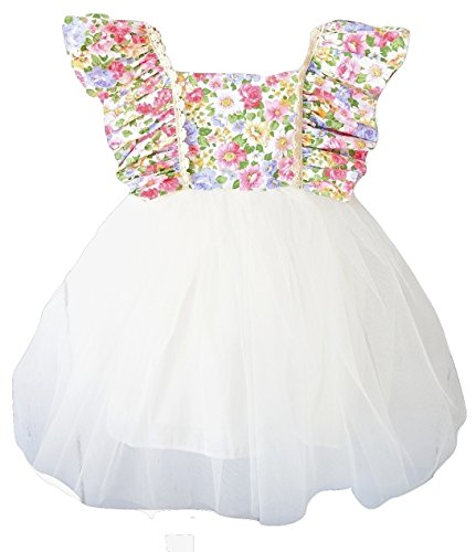 Girls Floral Tutu Flower Dress- Boutique Clothes and Dresses for Baby Girl