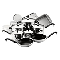 Selected 17pc Stainless Cookware Set By Farberware Cookware