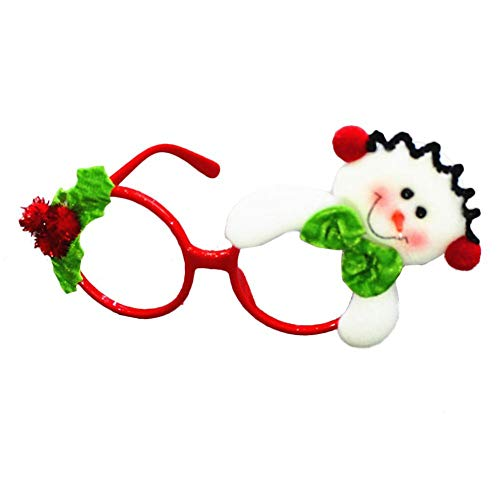 Cheng-store Christmas Spectacle Frame Glasses Christmas Theme Novelty Christmas Decoration Christmas Gift Party Christmas Glasses Decoration -