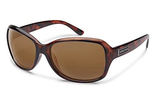 Suncloud Mosaic Sunglasses, Tortoise Frame/Brown Polycarbonate Lens, One - Sunglasses Smith Women