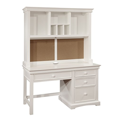 Birch Hutch (Bolton Furniture 865055500 Cambridge Pedestal Desk with Hutch Set, White)
