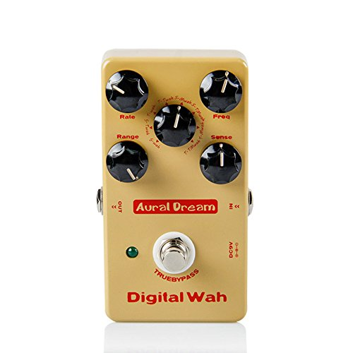 Aural Dream Digital Wah Guitar Effects Pedal with 8 types of Wah Algorithm Guitar Accessories by Aural Dream