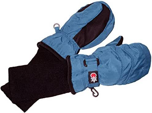 Tundra Boots Kids Unisex- Snow Stoppers Mittens (Infant/Toddler/Little Kids/Big Kids) Blue Skiing Gloves LG