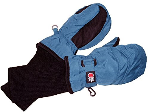 SnowStoppers Kid's Waterproof Stay On Winter Nylon Mittens Large / 4-8 Years Sky Blue