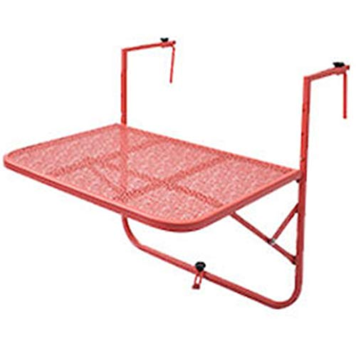 KXBYMXSimple Folding Table Balcony Hanging Table, Railing Metal Wrought Iron Hanging Folding Table European Minimalist Mini Wall Learning Small Table (Color : A)