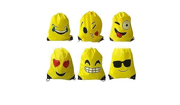 Yany Mochila De Halloween, 6 Lindo Lengua Emoji Bolsas De ...