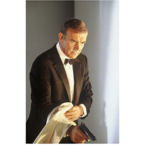 Sean Connery James Bond Holding Towel with Gun Underneath 8 x 10 Inch Photo