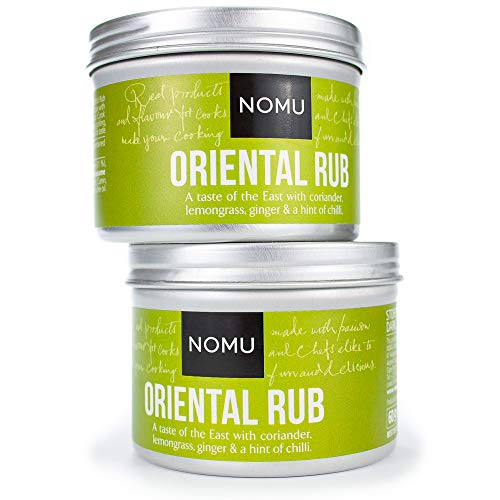 NOMU Oriental Seasoning Rub (2-Pack | 4.2oz) - Blend of 16 Premium Herbs & Spices - Vegan, Non-Irradiated, No MSG or Preservatives