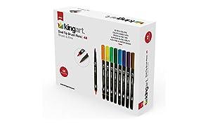 KINGART 445-48 Set of 48 Dual TIP Brush PENS 48 Piece