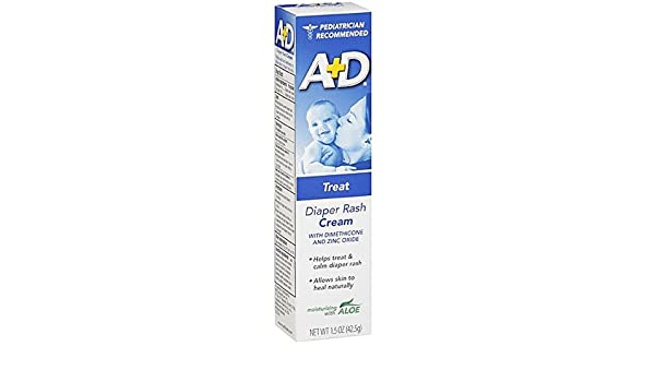 pack Of 7 Baby Good A+d Zinc Oxide Diaper Rash Cream With Aloe 4 Oz