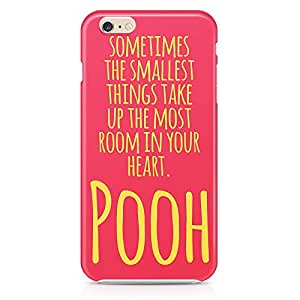 Loud Universe Heartly Quote Pooh iPhone 6 Case Bright Pooh Color iPhone 6 Cover with 3d Wrap around Edges