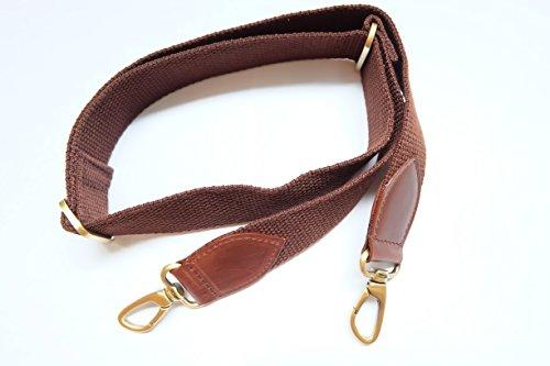 Somjai C290 Canvas Leather Strap Shoulder Bag Brown Color Width 4 cm. Length 123 cm.