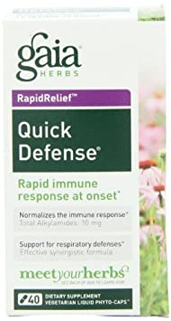 Gaia Herbs Quick Defense, 40 Liquid Phyto-Capsules 2 Pack