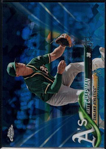 (Baseball MLB 2018 Topps Chrome Sapphire #669 Matt Chapman Athletics)