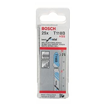 BOSCH Stichsägeblatt T 118 B Basic for Metal 25er-Pack