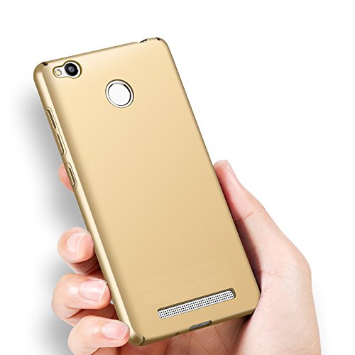 Tapfond-TM-All-Sides-Protection-360-Degree-Sleek-Quicksand-Matte-Hard-Back-Case-Cover-For-XIAOMI-MI-REDMI-3S-PRIME-Gold