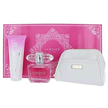 Amazon.com : VERSACE BRIGHT CRYSTAL 3 Piece Gift Set for Her (3 OZ ...