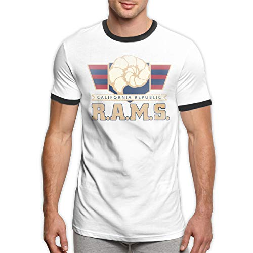 MiiyarHome Men's Ringer T-Shirt Travis Wilson, Men Short Sleeves Jersey Causal Tee Black -