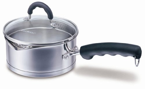 2Qt Stainless Steel Straining Saucepan with Double Spouts / Straining Saucepot