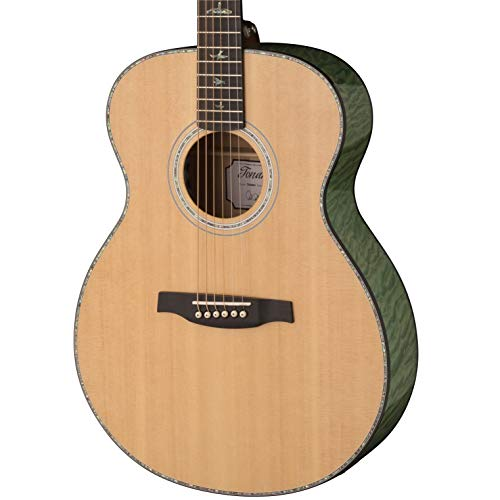 PRS Paul Reed Smith SE T55E Tonare Acoustic Electric Guitar with Case, Natural with Abaco Green