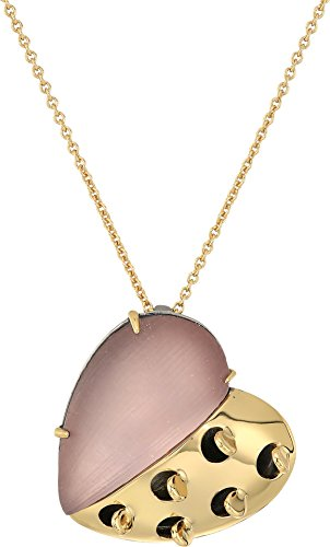 Alexis Pendant - Alexis Bittar Women's Petite Grater Heart Pendant Necklace Rose Grey One Size