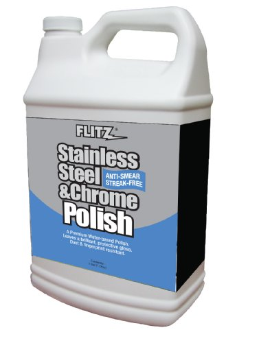 Flitz SS 01310 Stainless Steel Polish, 1 Gallon Refill Bottle