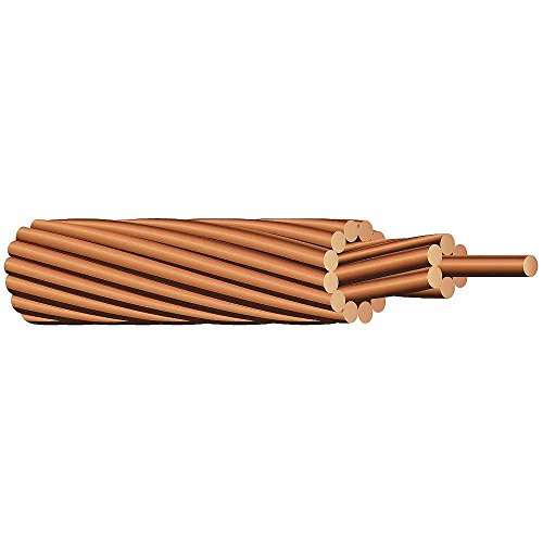 Solar panel grounding wire 25' bare #6 stranded copper wire by CIE Solar Products