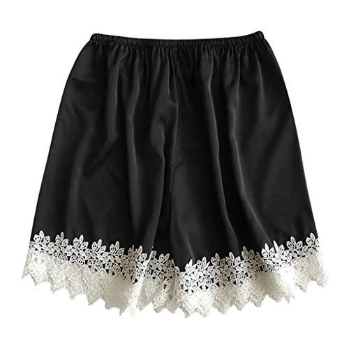 (Clearance Sale ! Womens Sexy Lace Shorts Sleep Pants Sleepwear Nightwear Nightgown Pajamas Plus Size S-3XL (Black, XXX-Large))