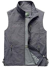 40210c6d345 Men s Casual Outdoor Lightweight Quick Dry Travel Vest Outerwear